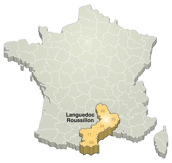 Carte France / Languedoc-Roussillon
