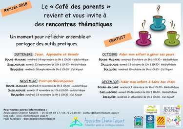 cafe parent rentree 2018