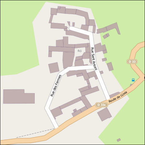 Map of Rô (hamlet)