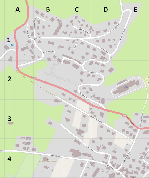 Map of Saillagouse - Streets (upper left quadrant)