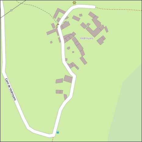 Map of Védrignans (hamlet)